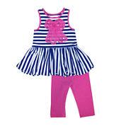 Marmellatta Bow Top and Leggings Set - Toddler Girls 2t-4t