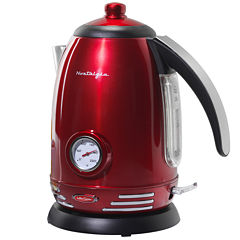 Nostalgia RWK150 Retro Series 1.7-Liter StainlessSteel Electric Water Kettle with Strix Thermostat