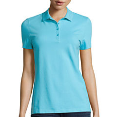 St. John's Bay® Fitted Polo Shirt