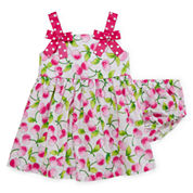Bonnie Jean® Sleeveless Pink Cherry Sundress - Baby Girls newborn-24m