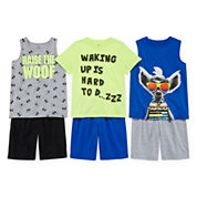 Okie Dokie® Muscle Tee, Stripe Tank, Tee or Shorts - Preschool