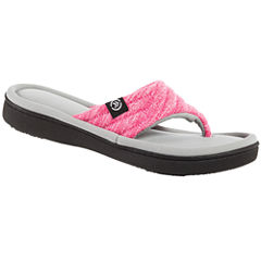 Isotoner Space Knit Thong Slippers