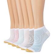 Goldtoe 6pk Diamond No Show Socks