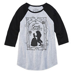Beauty and the Beast Graphic T-Shirt-Big Kid Girls