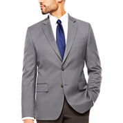 Stafford Yearround Gray Navy Houndstooth Sport Coat