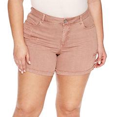 Vanilla Star Midi Shorts-Juniors Plus