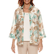 Alfred Dunner Ladies Who Lunch 3/4 Sleeve Layered Top