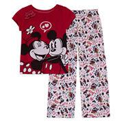 Disney Girls 2-pc. Short Sleeve Minnie Mouse Kids Pajama Set-Big Kid