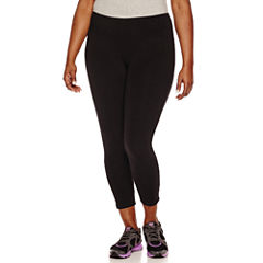 Spalding Solid Knit Leggings-Plus