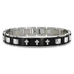 Mens 1/10 CT. T.W. Diamond Stainless Steel Bracelet