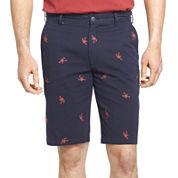 IZOD® Flat-Front Schiffli Shorts