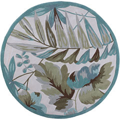 Floral Tropical Round Area Rug