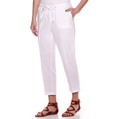 Liz Claiborne® Wide-Leg Linen-Blend Pants - Petite