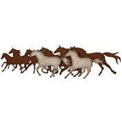 Galloping Horses Metal Wall Art