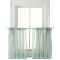 MarthaWindow™ Voile Rod-Pocket Window Tiers