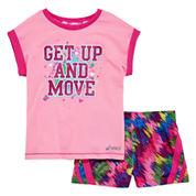 Asics® Tee and Shorts Set - Preschool Girls 4-6x