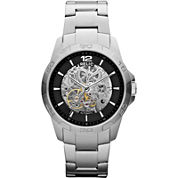 Relic® Mens Silver-Tone Automatic Skeleton Watch ZR12013