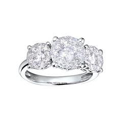 Brilliant Dream™  3/4 CT. T.W. Diamond 3-Stone Style Engagement Ring