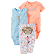 Carter's Bodysuit Set-Baby Girls