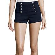 Almost Famous Sailor Mid-Rise Shorts - Juniors