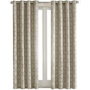 Madison Park Vella Jacquard Ogee Grommet-Top Curtain Panel