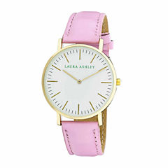 Laura Ashley Womens Pastel Pink Strap Watch-LA31020PK