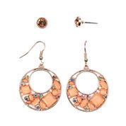 Arizona 4-pc. Orange Earring Sets