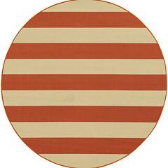 Covington Home Cabana Stripes Round Rug - 7'10