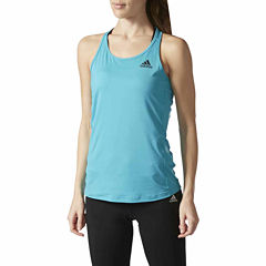 adidas Sleeveless Crew Neck T-Shirt-Womens