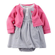 Carter's® Long-Sleeve Cardigan and Dress Set - Baby Girl newborn-24m