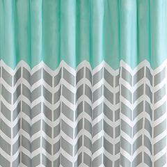 Intelligent Design Laila Printed Shower Curtain