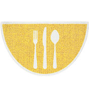Cutlery Wedge Accent Rug