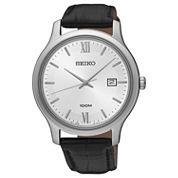 Seiko Mens Black Strap Watch-Sur225