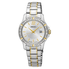 Seiko Womens Two Tone Bracelet Watch-Sur718