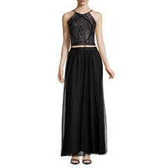 Reign On Sleeveless Embellished Dress Set-Juniors