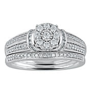 Cherished Hearts™ 1/2 CT. T.W. Diamond 14K White Gold Bridal Ring Set