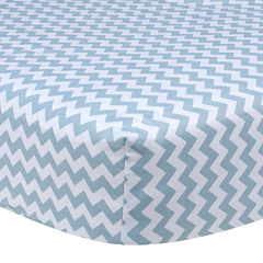 Trend Lab® Sky Blue Chevron Fitted Crib Sheet