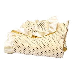 Trend Lab® Banana Cream Polka Dot Velour Blanket