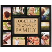 Burnes of Boston® Family Burlap 10-Opening Collage Picture Frame