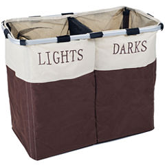 Lavish Home™ Dual Compartment Foldable Laundry Hamper