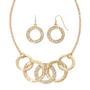 Liz Claiborne® Gold-Tone Circle Necklace and Earring Set