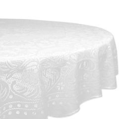 Design Imports Lace Rosebud Round Tablecloth