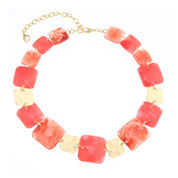 Gloria Vanderbilt Womens Orange Collar Necklace