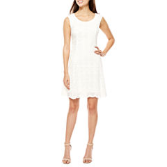 Ronni Nicole Sleeveless Lace Fit & Flare Dress