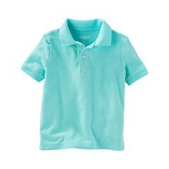 Oshkosh Short Sleeve Solid Polo Shirt - Toddler Boys