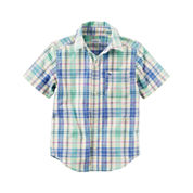 Carter's Boys Short Sleeve Button-Front Shirt
