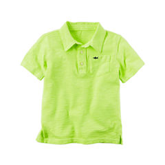 Carter's Tb Knit Top Short Sleeve Polo Shirt - Toddler Boys