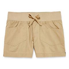 Arizona Knit At Waist Shortie Shorts - Big Kid Girls Plus