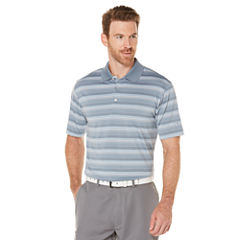 PGA TOUR Short Sleeve Stripe Jersey Polo Shirt