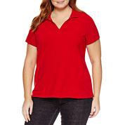 St. John`s Bay Short Sleeve T-Shirt-Plus